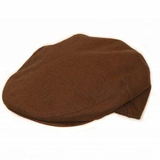 Cheshire Linen Flat Cap Brown