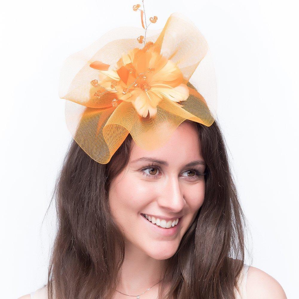 ladies-wedding-fascinator-orange