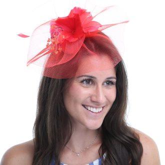 ladies-wedding-fascinator-red