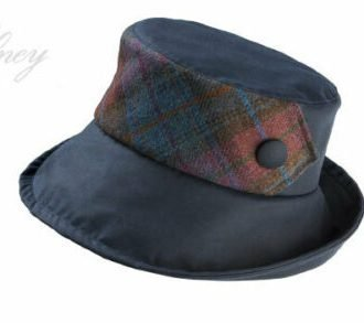 Olney Gemma Black Wax Outdoor Weatherproof Country Hat